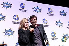 PHOTO OF THE DAY - 23rd August 2015:   David Tennant & Billie Piper At Wizard World Philly - 2015