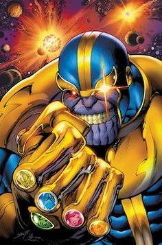 Thanos is a fictional supervillain appearing in American comic books published by Marvel Comics. The character first appeared in Iron Man #55 (Feb. 1973) and was created by writer-artist Jim Starlin. Debuting in the Bronze Age of Comic Books, the character has been featured in over four decades of Marvel continuity and a self-titled series.
