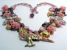Vintage Garden Charm Necklace