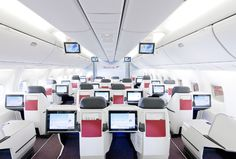 New Business Class on Boeing 767 : Austrian Airlines by Gloria Garcia Best Airlines, Major Airlines, Austrian Airlines, Best Airfare Deals, Airplane Interior, Private Jet Interior, Luxury Jets, Fly Around The World, Aviation World