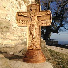 ΞΥΛΟΓΛΥΠΤΙΚΗ WOOD CARVING резьба по дереву Λυδιανός: Ξυλόγλυπτος Σταυρός, σταύρωση και ανάσταση σε ξύλο...
