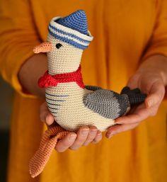 Mister Seagull crochet pattern Amigurumi seagull toy | Etsy Crochet Bee, Crochet Birds, Cute Crochet, Crochet Patterns Amigurumi, Amigurumi Doll, Diy Crochet Animals, Small Crochet Gifts, Nautical Nursery Decor, Stuffed Toys Patterns