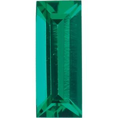 4x2mm Straight Baguette Faceted Chatham Created Emerald