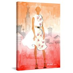 Marmont Hill - 'Florens' by Lovisa Oliv Painting Print on Wrapped Canvas