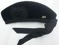 891f4be001fb6 a glengarry clasico sombrero escoces plain negro 100 pura lana