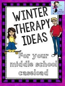 thedabblingspeechie - Winter Therapy ideas for Middle & High School Students. Pinned by SOS Inc. Resources. Follow all our boards at pinterest.com/sostherapy/ for therapy resources.