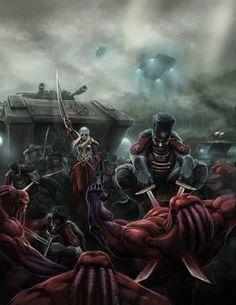 Whitestar Battle Scene  Mutant Chronicles 3rd Ed. RPG by Chris Birch, Modiphius » Updates — Kickstarter