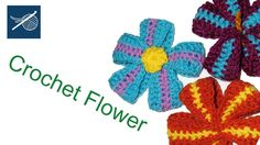 Crochet Ribbon Flower - How To Left Hand Crochet Geek