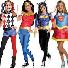 Do you have an awesome comic book girl? She will love these Rubie's DC Superhero Girls!  #superheroes #dc #dccomics #harleyquinn #wonderwoman #batgirl #supergirl #rubiescostumeco  Available in children's sizes online and in stores while supplies last.  Contact us at 585-482-8780 for more information or check out select costumes and accessories on our website www.arlenescostumes.com