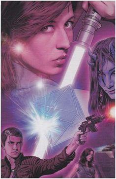 Jaina Solo and Jagged Fel on their honeymoon on Sakuub, as seen in Star Wars Insider #134.