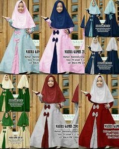 Islamic Fashion, Muslim Fashion, Dresses Kids Girl, Kids Outfits, Baby Hijab, Dress Anak, Hijab Dress, Kids Fashion, Womens Fashion