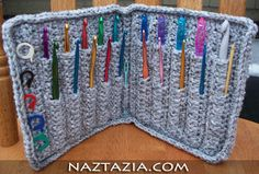 Crochet hook holder case