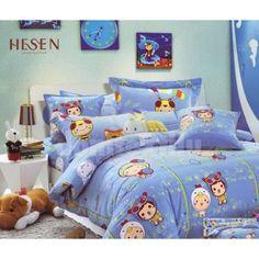 Modrá detská posteľná obliečka s detskou potlačou Comforters, Blanket, Bed, Furniture, Home Decor, Creature Comforts, Quilts, Decoration Home, Stream Bed