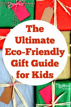 The Ultimate Eco-Friendly Gift Guide for Kids. This guide is filled with Waldorf and Montessori inspired toys made with natural materials for your baby, toddler, preschooler, and school aged child. From educational to open-ended there is something here for every child on your list.