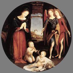 PIERO DI COSIMO The Adoration of the Christ Child 1505 Oil on wood, diameter 140 cm Galleria Borghese, Rome