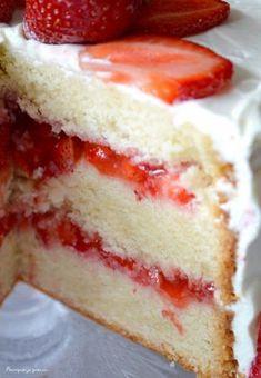 Pourquoi je grossis ... : Layer cake fraises & citron.