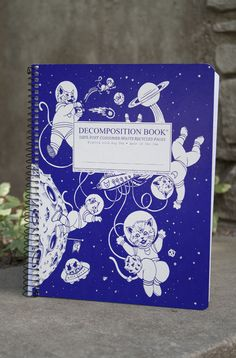 Decomposition Book Spiral Notebook - Kittens In Space Central Michigan