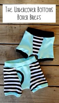 Boxer briefs sew pattern- different fabric