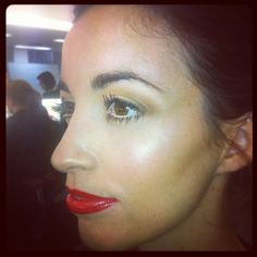 Bridal with red lip