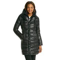 T Tahari® Olivia Down Coat With Knit Collar
