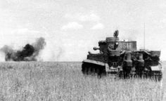 A Tiger 1 scores a direct hit during the Battle of Kursk