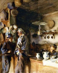 A Venetian Interior | John Singer Sargent | oil painting #OilPaintingInspiration