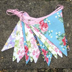 country floral bunting by zigzag bunting | notonthehighstreet.com