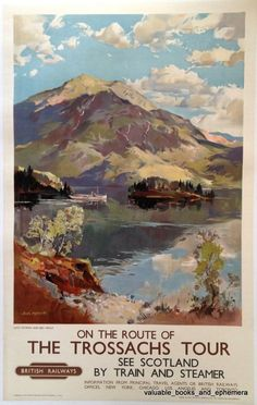 Jack Merriott / ON THE ROUTE OF THE TROSSACHS TOUR - SEE SCOTLAND BY TRAIN AND STEAMER / ca. 1954