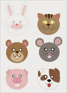 Actividades para Educación Infantil: Caretas de animales MRPRINTABLES