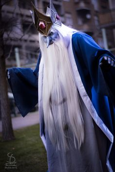 Ice King Cosplay from Adventure Time by dudus-senchou on tumblr., photo by Cleanpig's Hideout on Facebook, inspired by steampunk fan art of micaella on tumblr.