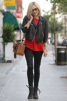Fearne Cotton at the BBC Radio One studios Cool Outfits, Casual Outfits, Night Outfits, Fearne Cotton, Gamine Style, Biker Chic, Rocker Style, Cotton Style, Celebrity Style