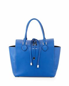 Large Miranda Grained Tote, Royal  by MICHAEL KORS at Neiman Marcus.