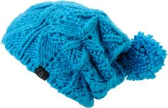 For a cute way to stay warm the DC Girls Tayce beanie is a thick knit hat featuring a bright blue colorway, fun pompom on top, and a comfortable stretch fit. Wear it slouchy or folded for a fitted feel and pair it with your favorite graphic tee for a grea Stay Warm, Cowl, Knitted Hats, Beanies, Winter Hats, Knitting, Blue, Girls, Women