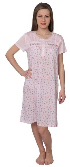 Designed For You Women's Floral Print Nightgown Sleepshirt at Amazon Women's Clothing store: