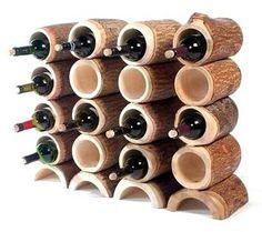 Mangowood Wineracks by Craig Anczelowitz, via Behance Unusual Things, Magazine Design, Handicraft, Wine Rack, Creative Design, Home Accessories, Woodworking, House Styles, Interior