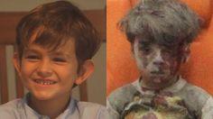 Alex, 6, de Nova York, and Omran, 5, da Síria