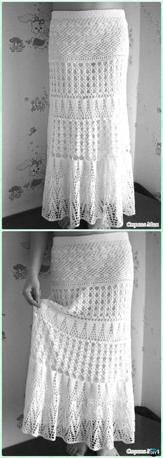 Crochet Evening Lace Maxi Skirt Free Diagram - Crochet Women Skirt Free Pattern