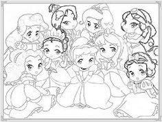 Kết quả hình ảnh cho tranh tô màu công chúa mắt tròn