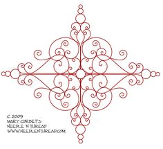 Free Hand Embroidery Pattern: Scrolly Medallion