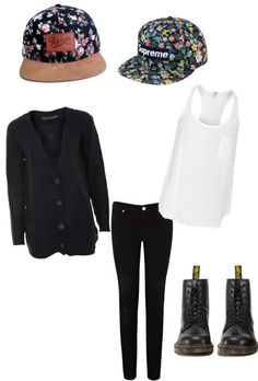 """caps and docs"" by teecl on Polyvore"
