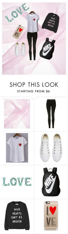 """""""L♡VE"""" by blancalv ❤ liked on Polyvore featuring Topshop, Converse, NIKE, Zoe Karssen and Casetify"""