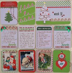 Cute Christmas #ProjectLife layout