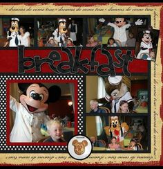 Mm Cruise Scrapbook, Disney Scrapbook Pages, Scrapbook Sketches, Scrapbook Page Layouts, Travel Scrapbook, Scrapbook Paper Crafts, Scrapbook Cards, Scrapbook Photos, Book Layouts