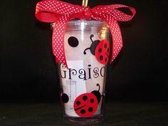 Personalized Ladybuy Tumbler. $10.75, via Etsy.