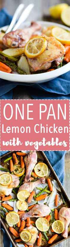 Gluten Free One Pan Lemon Chicken and Vegetables!
