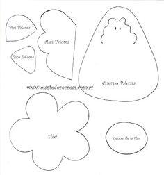 Modelo de palomas.Dibujos de palomas.   RECREAR - MANUALIDADES - ARTE Crafts, Floor, Model, Paper Bag Puppets, Pavement, Manualidades, Boden, Handmade Crafts, Craft