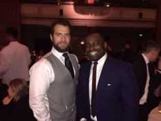 """First pic from the afterparty! """"@Tmountford15: So my husband #HenryCavill and my dad... cute """" #Jealous #SuitLove #SexiestBeard #Superman #TheManfromUNCLE #ManofSteel #ClarkKent #NapoleonSolo #BatmanvSuperman #JusticeLeague #London #JamesonEmpireAwards"""