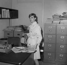 vintage photo - New York Daily News trainee on her first day of work,1967. via NY Daily News.