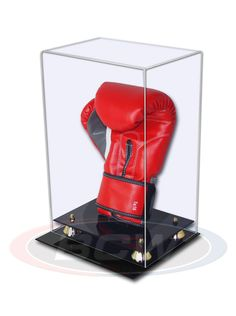 BCW Acrylic Vertical Boxing Glove Display Case with Mirror