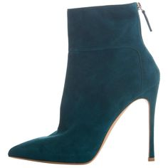 Gianvito Rossi Suede Bootie | From a collection of rare vintage shoes at https://www.1stdibs.com/fashion/accessories/shoes/